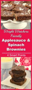 Weight Watchers Applesauce & Spinach Brownies - foodmeanderings.com