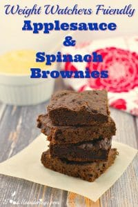 Weight Watchers Friendly Applesauce & Spinach Brownies