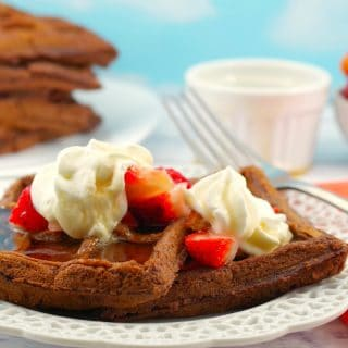 Belgian Chocolate Waffles: Weight Watchers Friendly