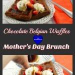 Chocolate Belgian Waffles | brunch idea - foodmeanderings.com