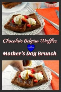 Chocolate Belgian Waffles | brunch idea - foodmeanderings.com