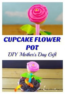 Cupcake Flower Pot - DIY Mother's Day Gift- Foodmeanderings.com