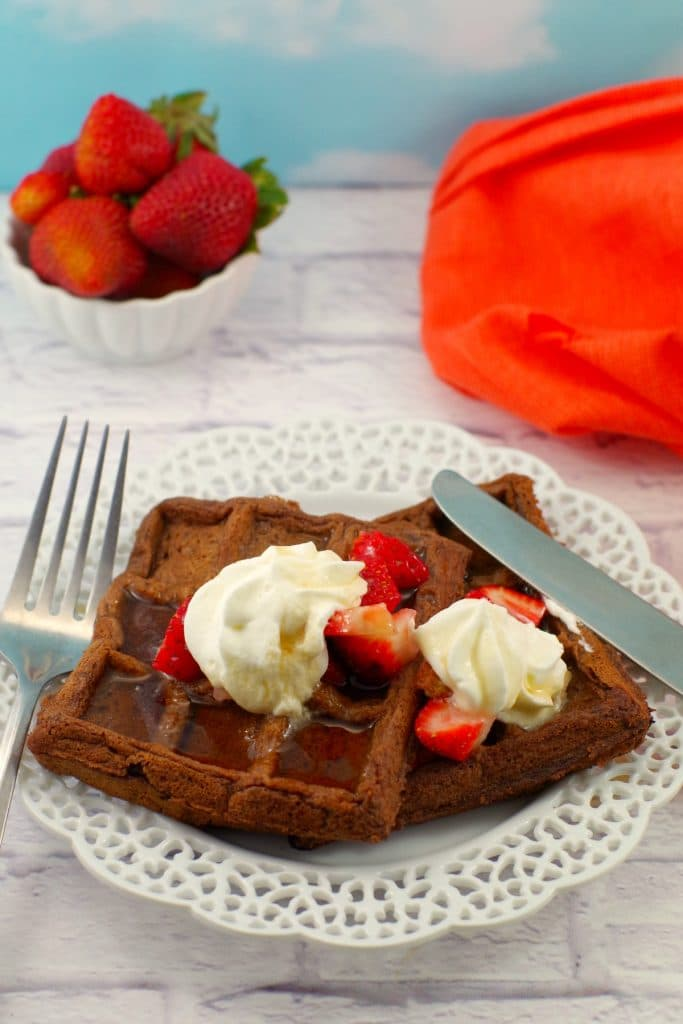 Waffles with chocolate | Belgian Chocolate Waffles - foodmeanderings.com