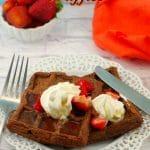 Waffles with chocolate | Chocolate Belgian Waffles - foodmeanderings.com