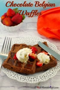 Waffles with chocolate | Chocolate Belgian Waffles - foodmeanderings.com
