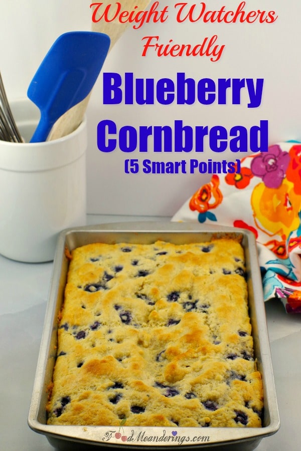 Weight Watchers Friendly Healthy Blueberry Cornbread - Foodmeanderings.com