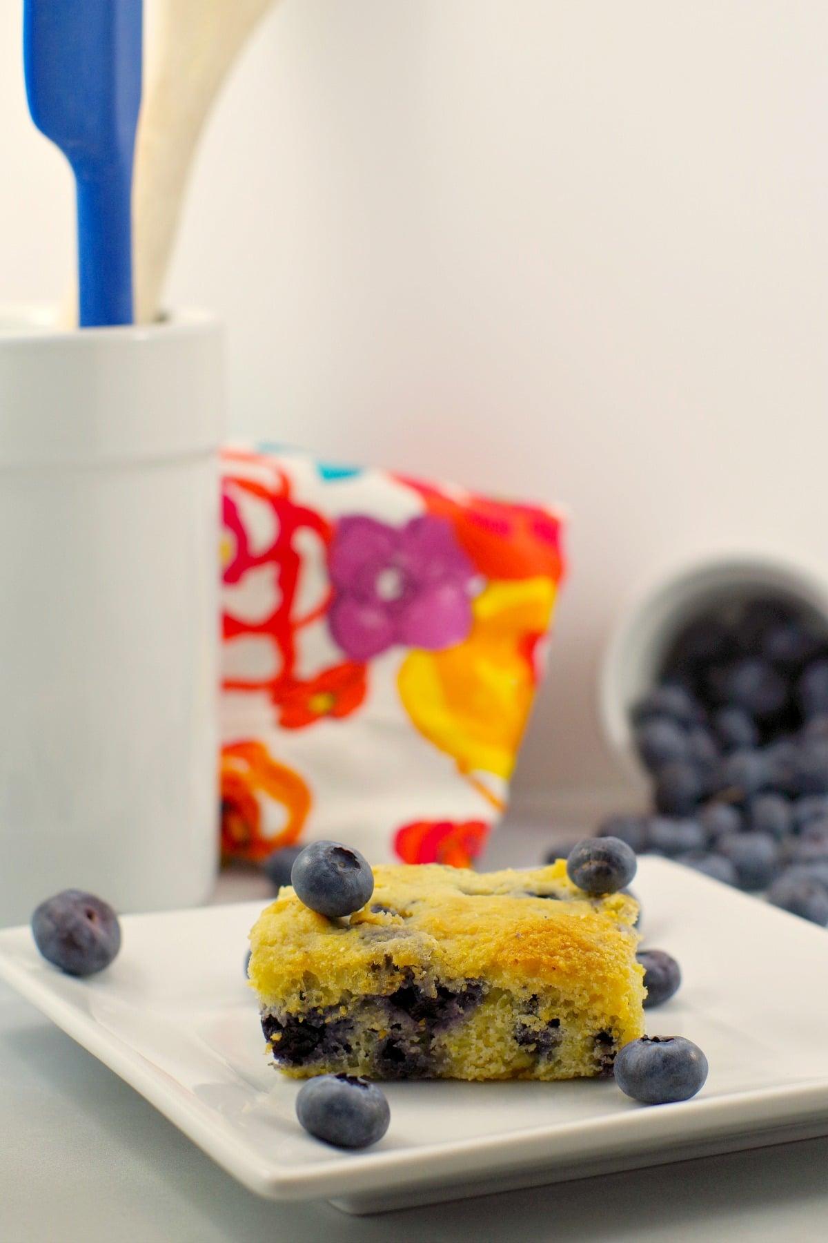 Blueberry Cornbread | healthy - foodmeanderings.com