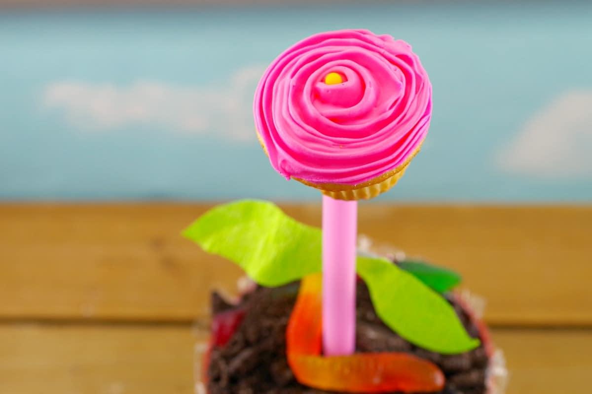 Flower cupcake flower pots