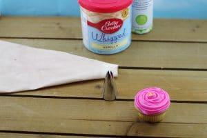 Flower cupcake - ice cupcake