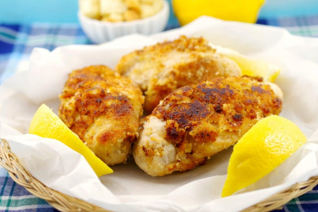 Caesar Fried chicken recipe | picnic chicken - foodmeanderings.com