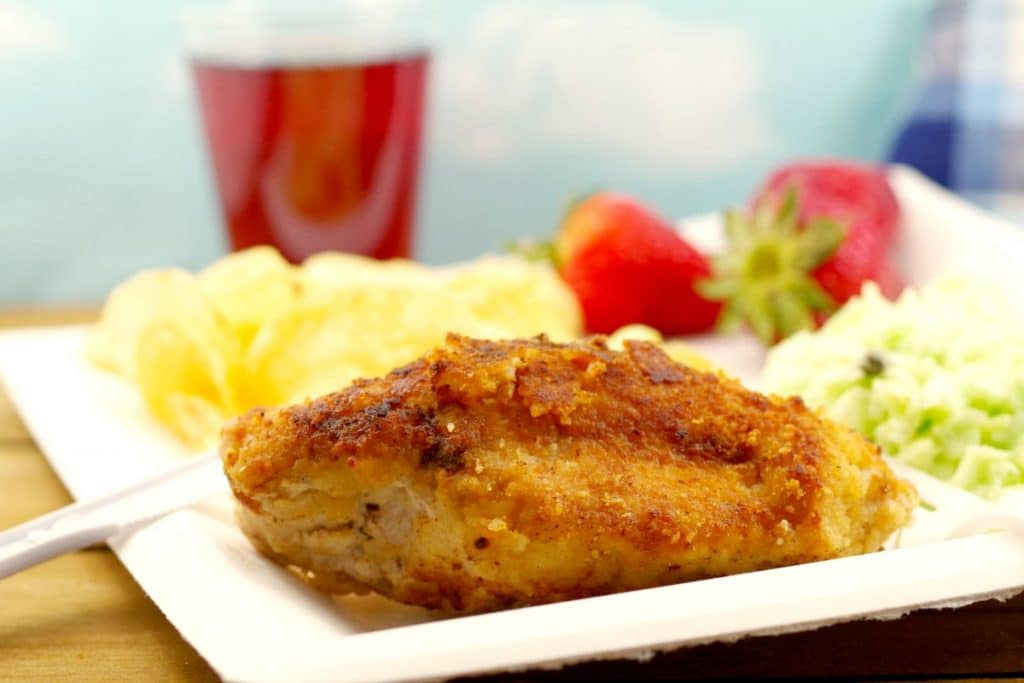 Fried Caesar Chicken | picnic chicken - foodmeanderings.com