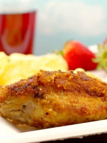 Fried Caesar Chicken | picnic chicken - foodmeanderings.com