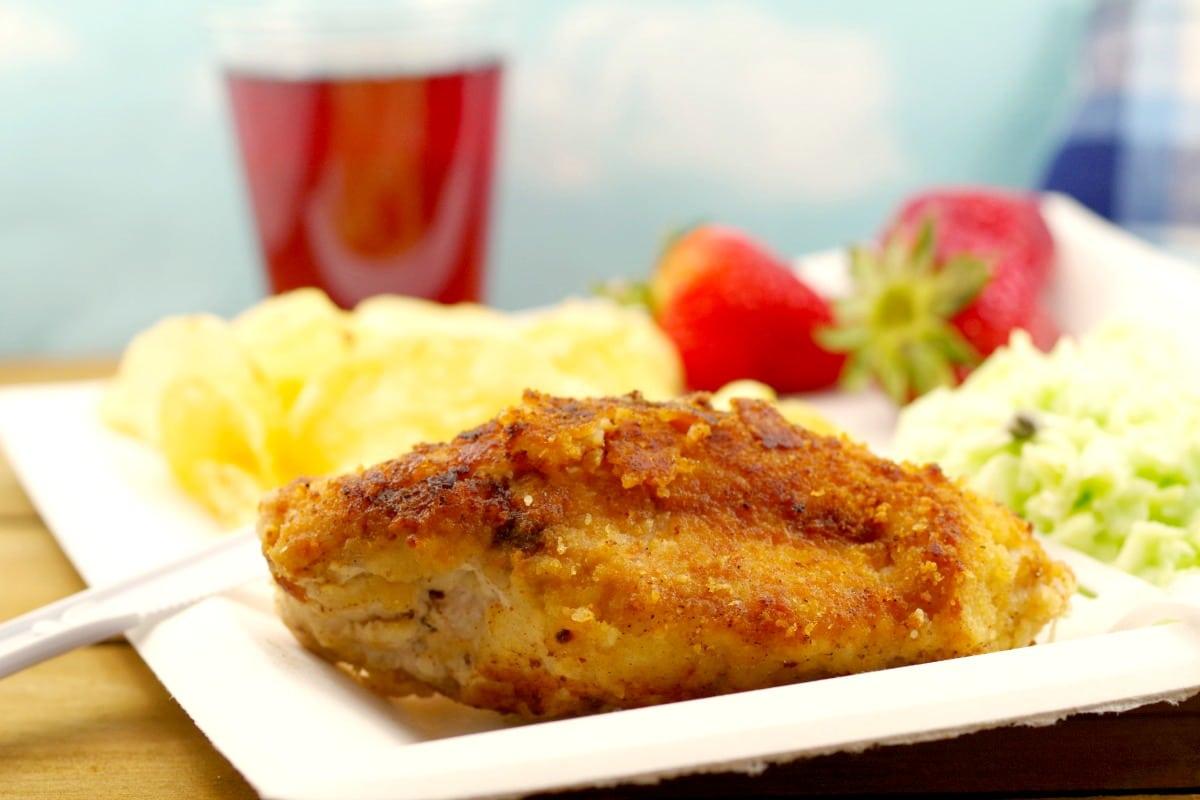 Fried Caesar Chicken   picnic chicken - foodmeanderings.com