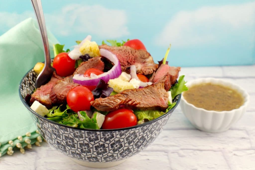 Healthy Grilled Steak Salad | Moxie's copycat - Foodmeanderings.com
