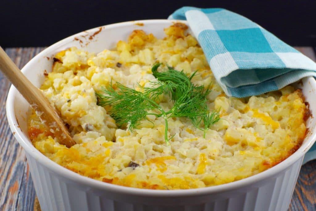 Potatoes Romanoff | with mushroom soup - foodmeanderings.com