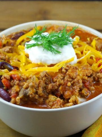 Pork & Beef Chili - quick and easy