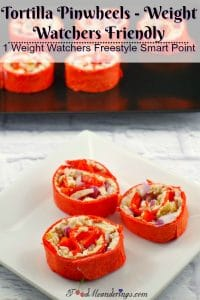 Tortilla Pinwheels |Weight Watchers friendly - foodmeanderings.com