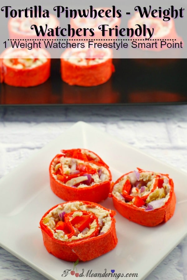 Tortilla Pinwheels |Weight Watchers friendly - foodmeanderings.com