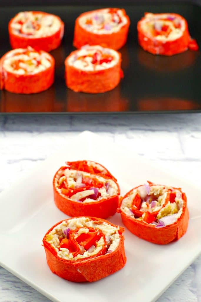 Tortilla Pinwheels| weight watchers friendly - foodmeanderings.com