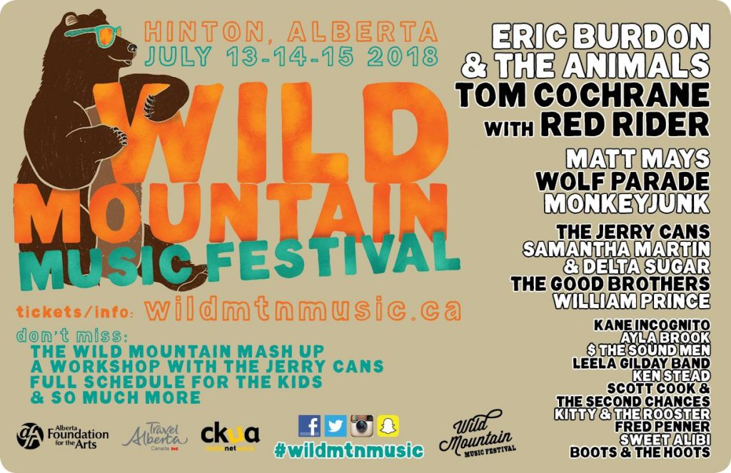 Wild Mountain Music Festival Line up