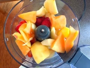 Fruit popsicle Making Step 2 - add to food processor