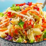 Healthy Artichoke & Roasted Red Pepper Coleslaw