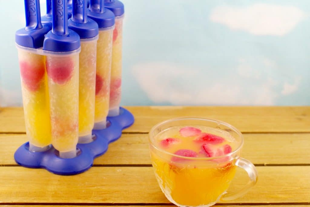 Sparkling Strawberry Punch Popsicles- foodmeanderings.com