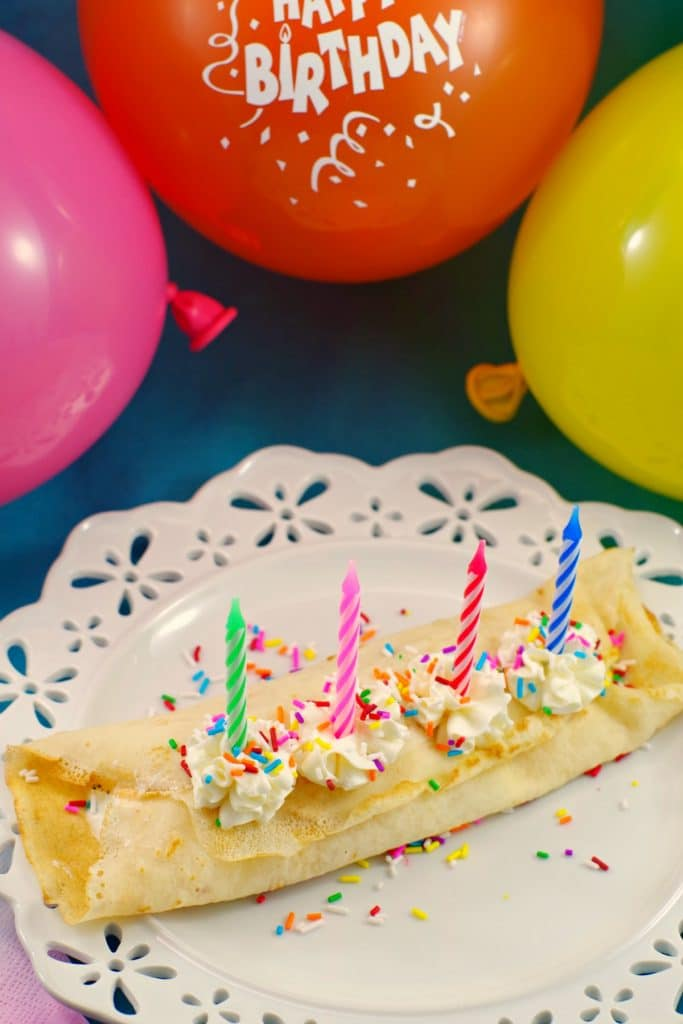 Cake batter and ice cream crepes- foodmeanderings.com