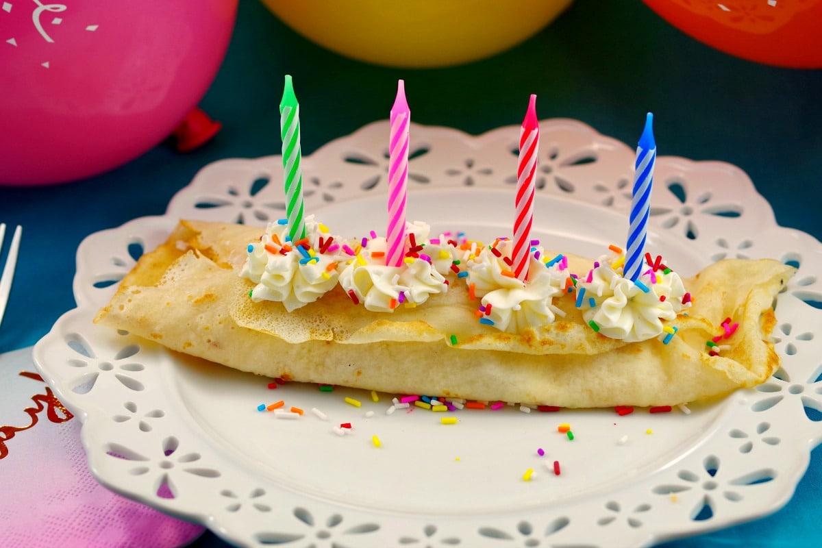 Birthday Cake Batter And Ice Cream Crepes Breakfast