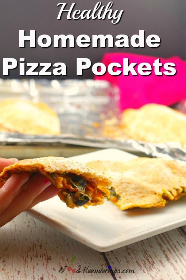 Homemade Pizza Pocket |healthy - foodmeanderings.com