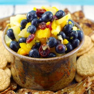 Peach Pineapple Fruit Salsa – in 5 minutes!
