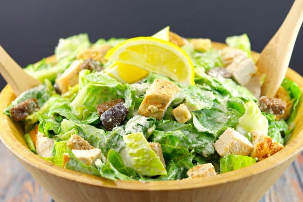 The best Grilled Chicken Caesar Salad Recipe - foodmeanderings.com