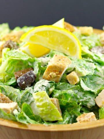 The best Grilled Chicken Caesar Salad Recipe - foodmeanderings.com