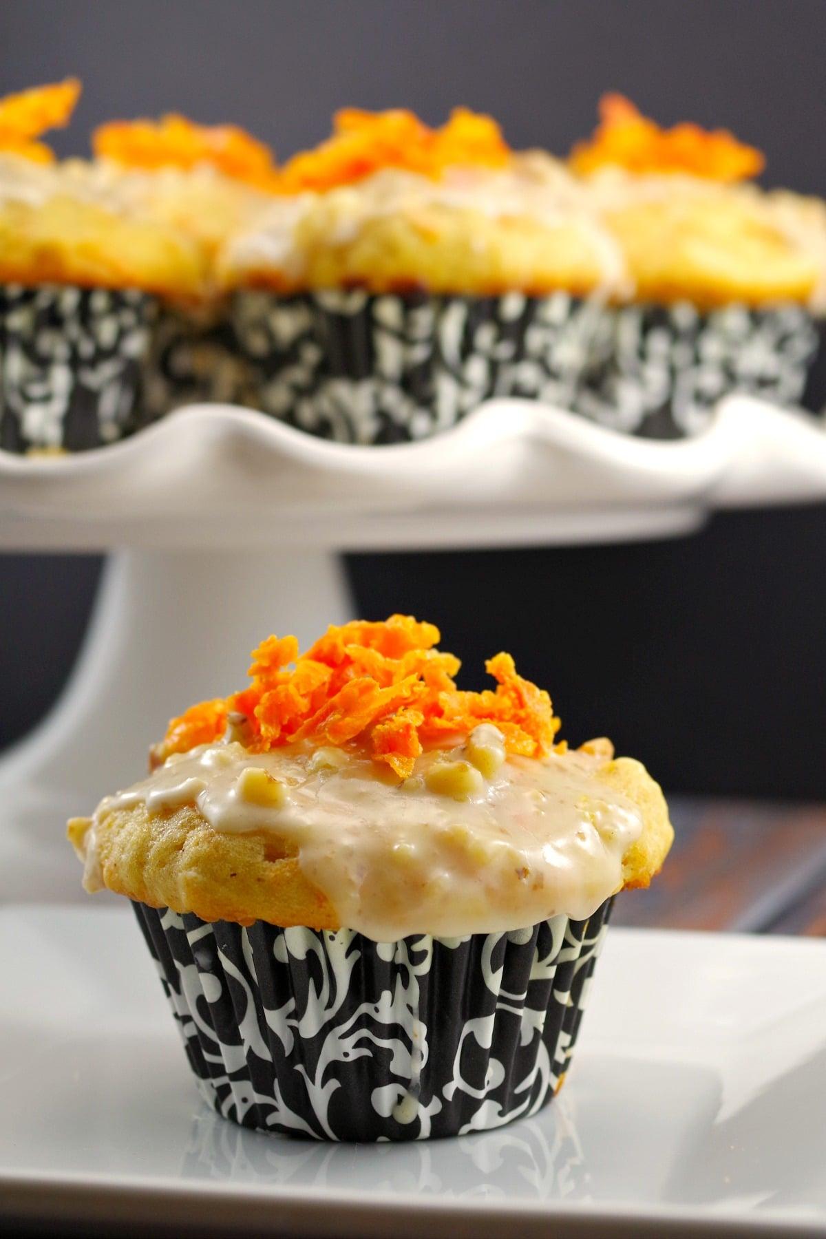 Carrot Cake Donut Muffin recipe - foodmeanderings.com