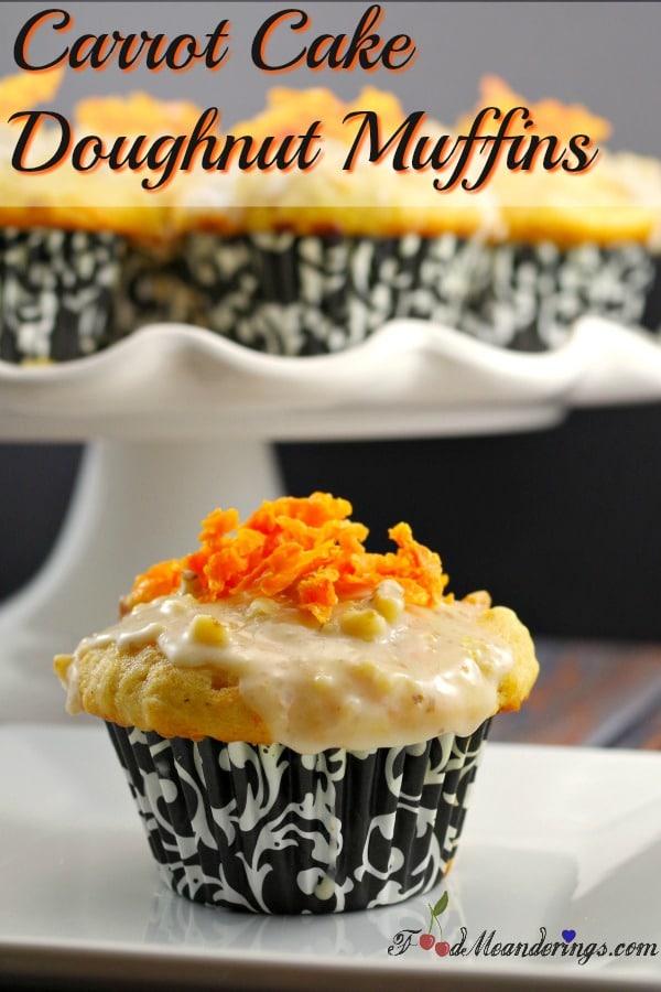 Doughnut Muffins   Carrot Cake - foodmeanderings.com