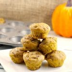 Pumpkin Pie Blondies/mini muffins | 2 light bite blondies - foodmeanderings