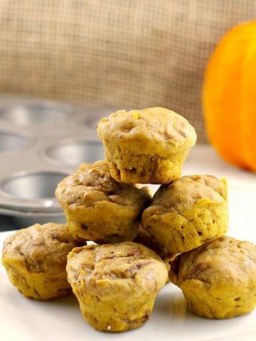 Pumpkin Pie Blondies/mini muffins | 2 light bite blondies - foodmeanderings