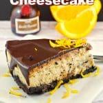 Grand Marnier Liqueur Cheesecake | #cheesecake #liqueur #orange - foodmeanderings.com