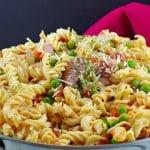 Healthy Ham & Pea Pasta | creamy - foodmeanderings.com