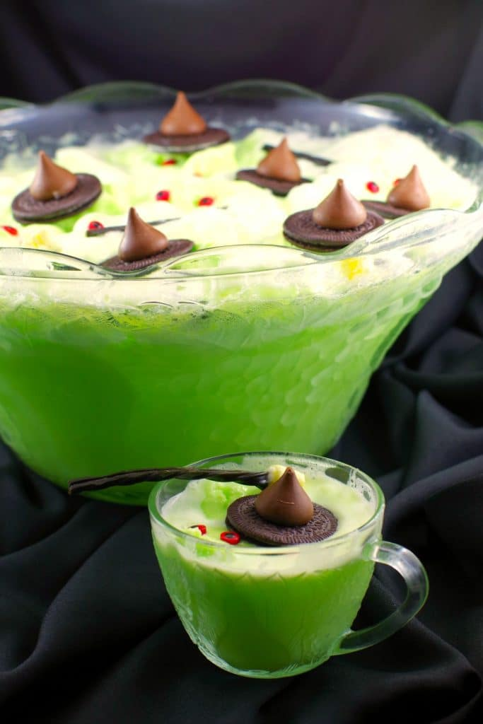 Melting Witch Halloween Punch by Food Meanderings - Weekend Potluck 453