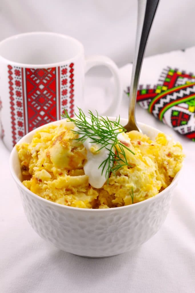 Pierogi Breakfast Casserole - foodmeanderings.com