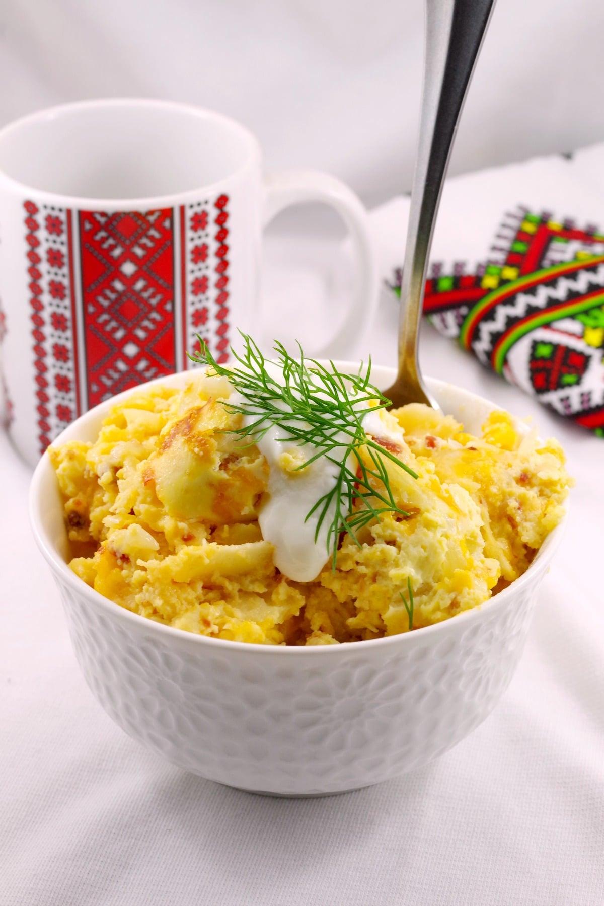 Pierogi Breakfast Casserole - foodmeanderings.com