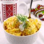 Pierogi Breakfast Casserole | #pierogi #breakfast #casserole - foodmeanderings.com