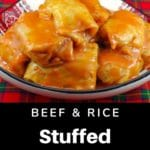 Stuffed Cabbage Rolls on a ukrainian serving plate