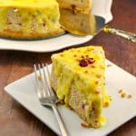 Cranberry Bread Pudding Cheesecake | holiday cheesecake - foodmeanderings.com