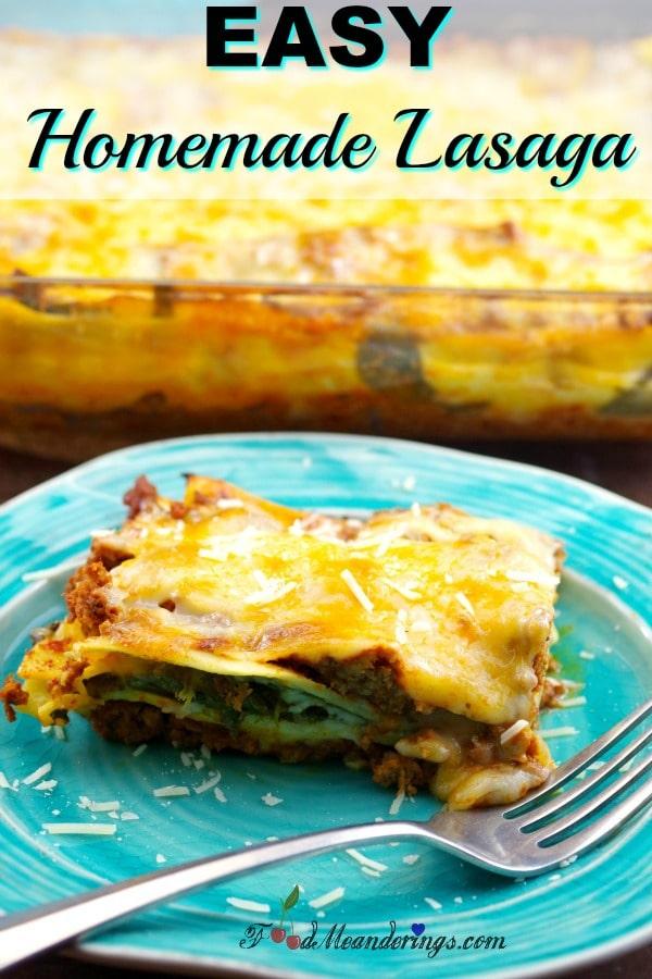 Easy Homemade Meat Lasagna | #lasagna #lasagnarecipe -foodmeanderings.com