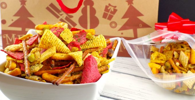 Holiday Chex Mix: A Savory Festive Party Mix!