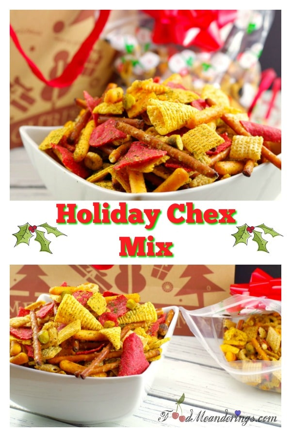Holiday Chex - a savory party mix | #chexmix #holiday #partymix