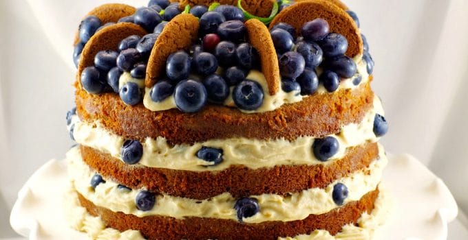Old Fashioned Gingerbread Cake with Blueberry Cookie Butter Filling: The Ultimate Gingerbread Lover's Cake