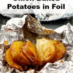 Hasselback onion potato on foil